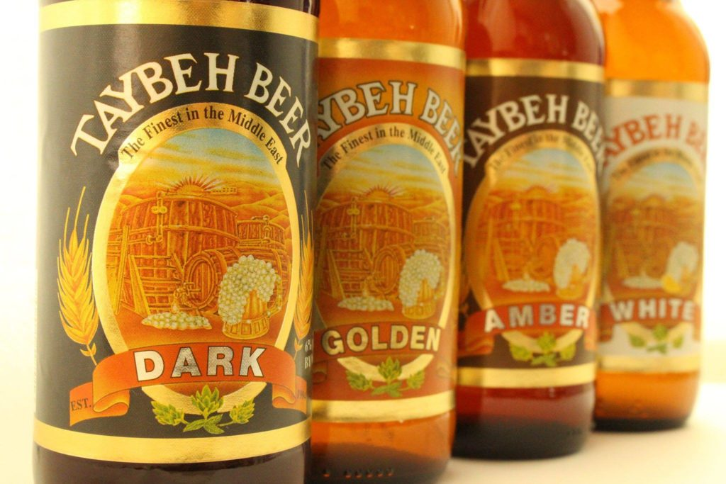 Taybeh beer: Dark, White, IPA, Amber, Golden
