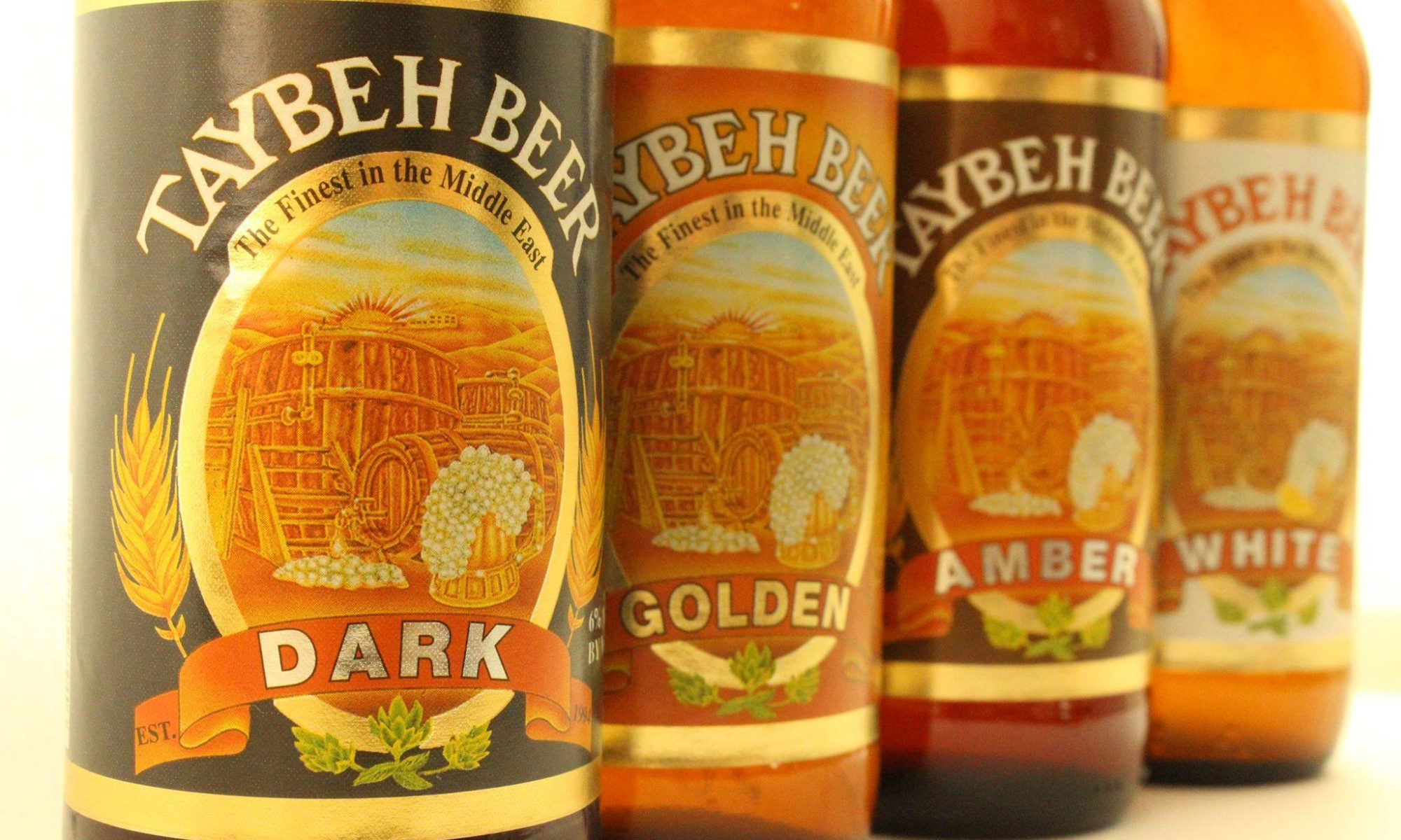 Taybeh beer: Dark, White, IPA, Amber, Golden